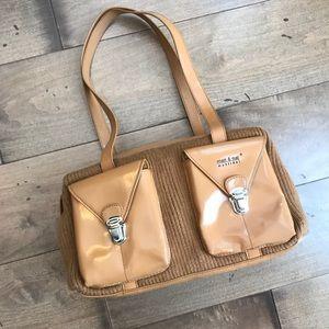 Matt & Nat Vegan Leather Cloth Handbag Camel